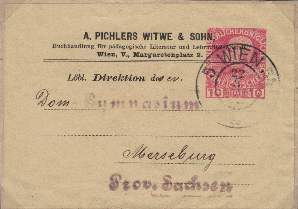 Privatganzsachen von A. Pichlers Witwe & Sohn Kfj_1010