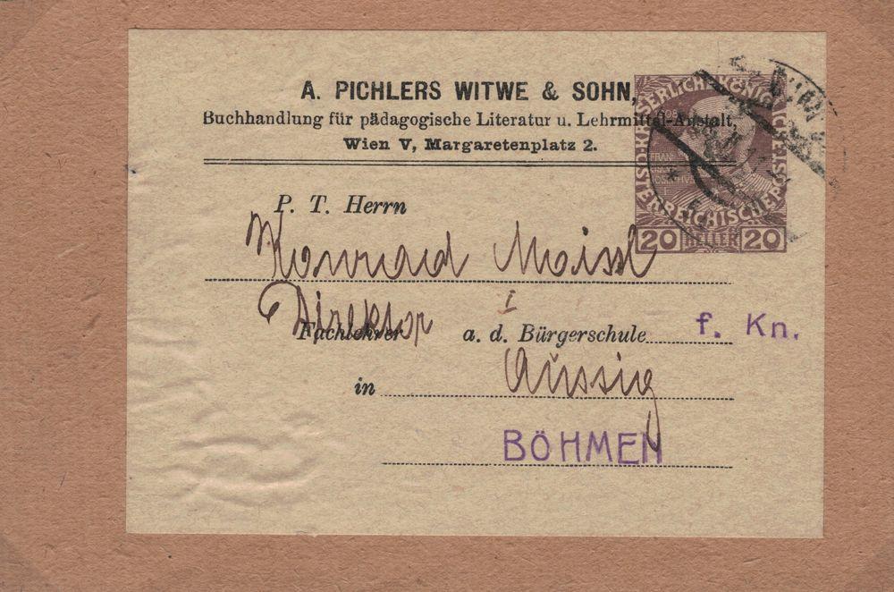 Privatganzsachen von A. Pichlers Witwe & Sohn Kfj_2010