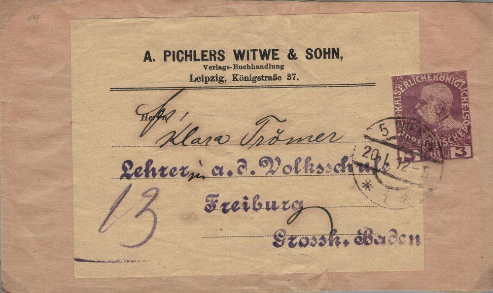 Privatganzsachen von A. Pichlers Witwe & Sohn Kfj_310