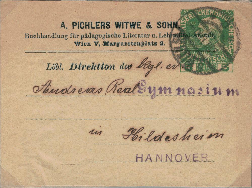 Privatganzsachen von A. Pichlers Witwe & Sohn Kfj_510