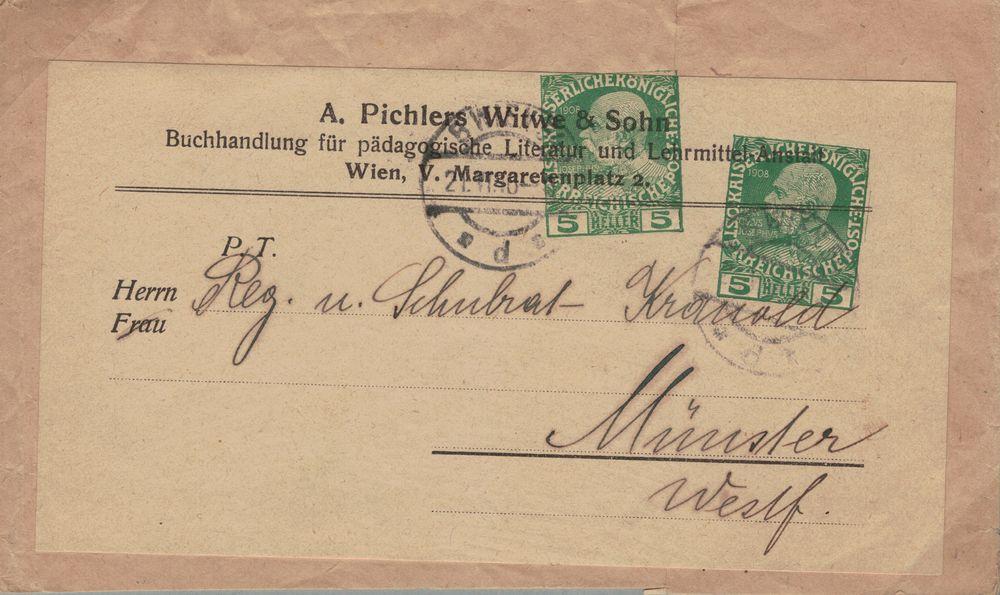 Privatganzsachen von A. Pichlers Witwe & Sohn Kfj_5_10