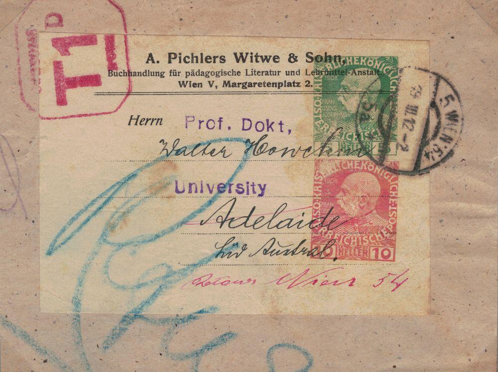 Privatganzsachen von A. Pichlers Witwe & Sohn Kfj_5_11