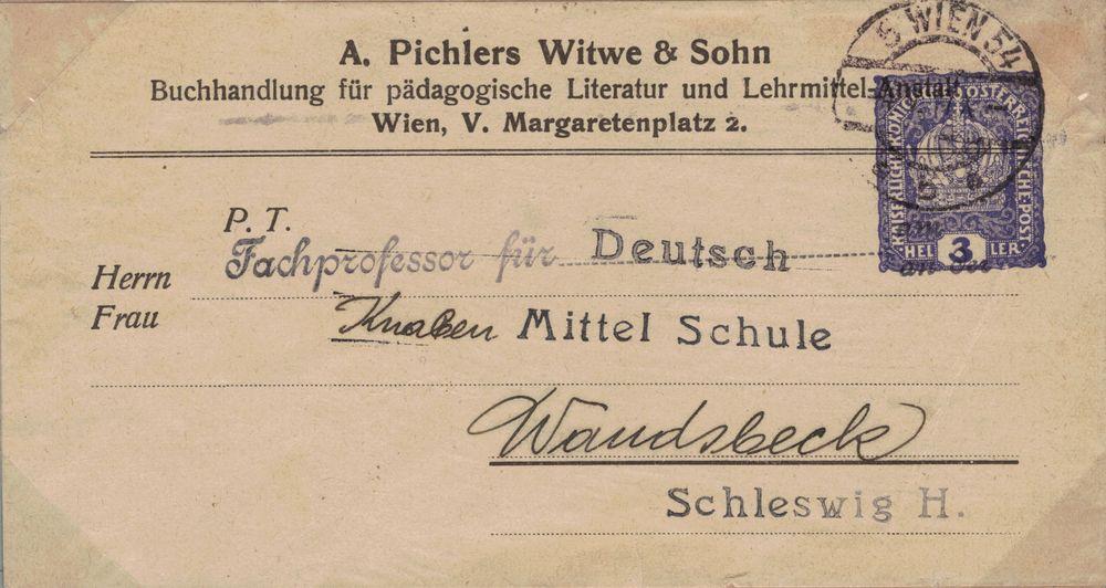 Privatganzsachen von A. Pichlers Witwe & Sohn Kk_310