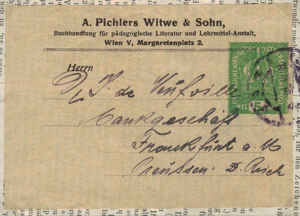 Privatganzsachen von A. Pichlers Witwe & Sohn Kk_510