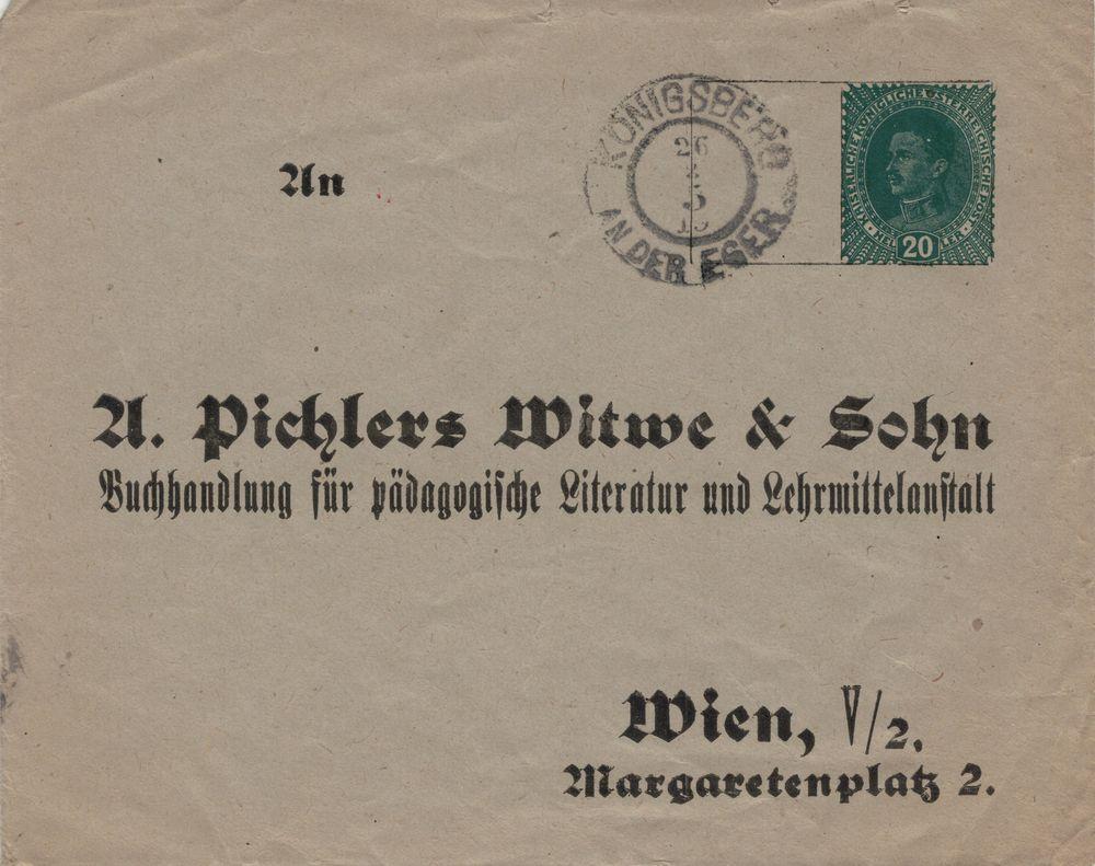 Privatganzsachen von A. Pichlers Witwe & Sohn Kuvert11