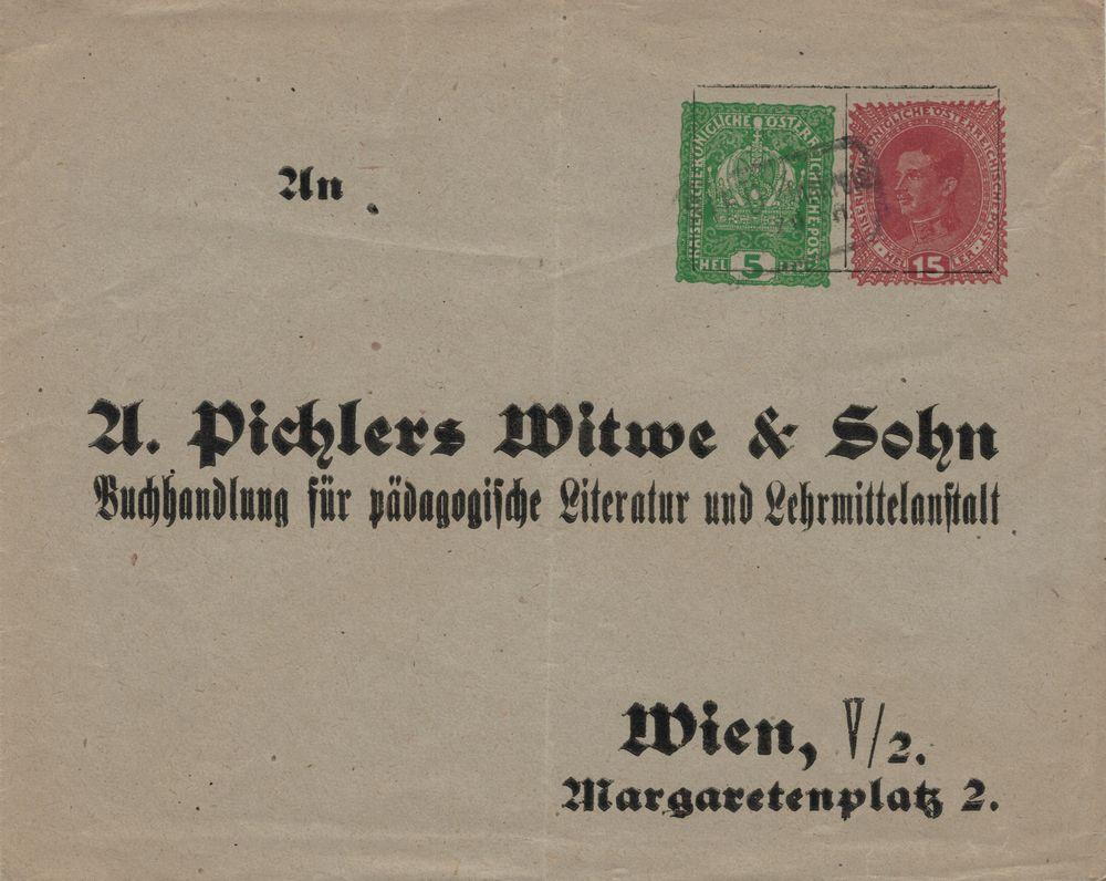 Privatganzsachen von A. Pichlers Witwe & Sohn Kuvert12