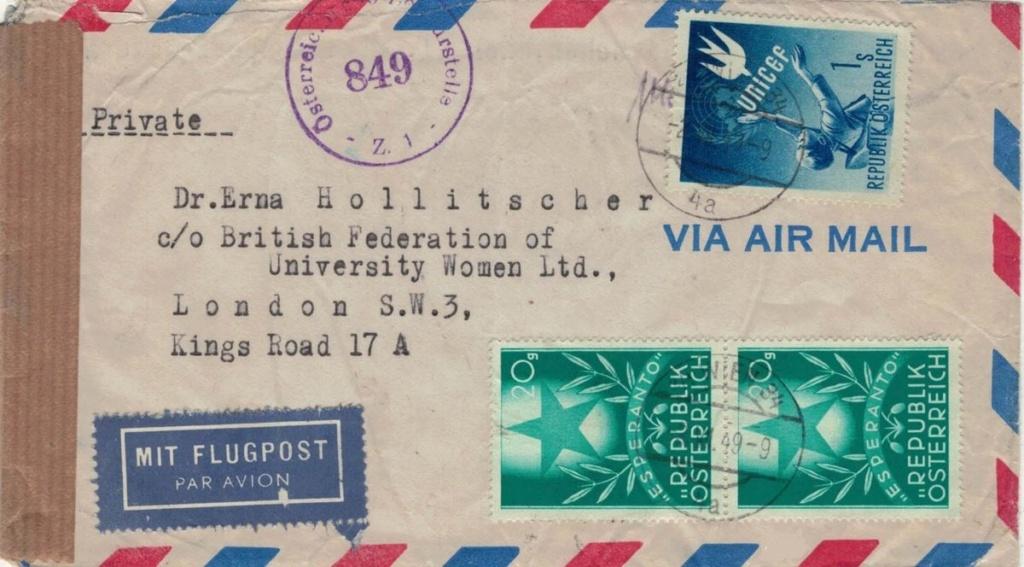 Sammlung Bedarfsbriefe Österreich ab 1945 - Seite 16 London10