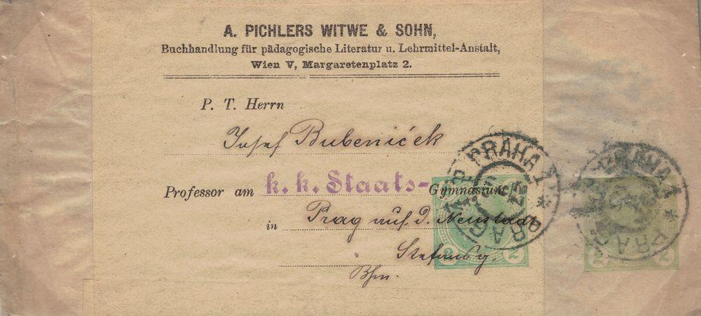 Privatganzsachen von A. Pichlers Witwe & Sohn Merkur10