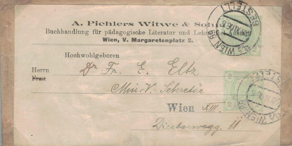 Privatganzsachen von A. Pichlers Witwe & Sohn Merkur11