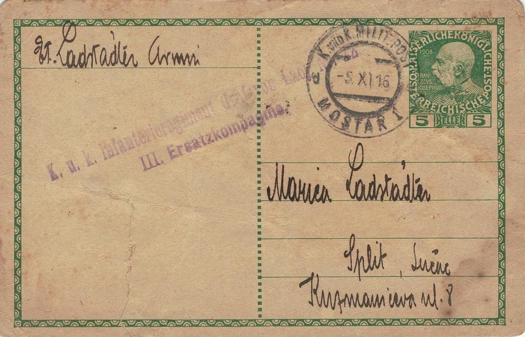 Die Freimarkenausgabe 1908 - Seite 11 Mostar10