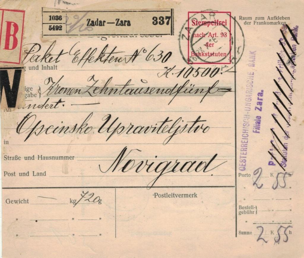 Die Freimarkenausgabe 1908 - Seite 8 Paketk10