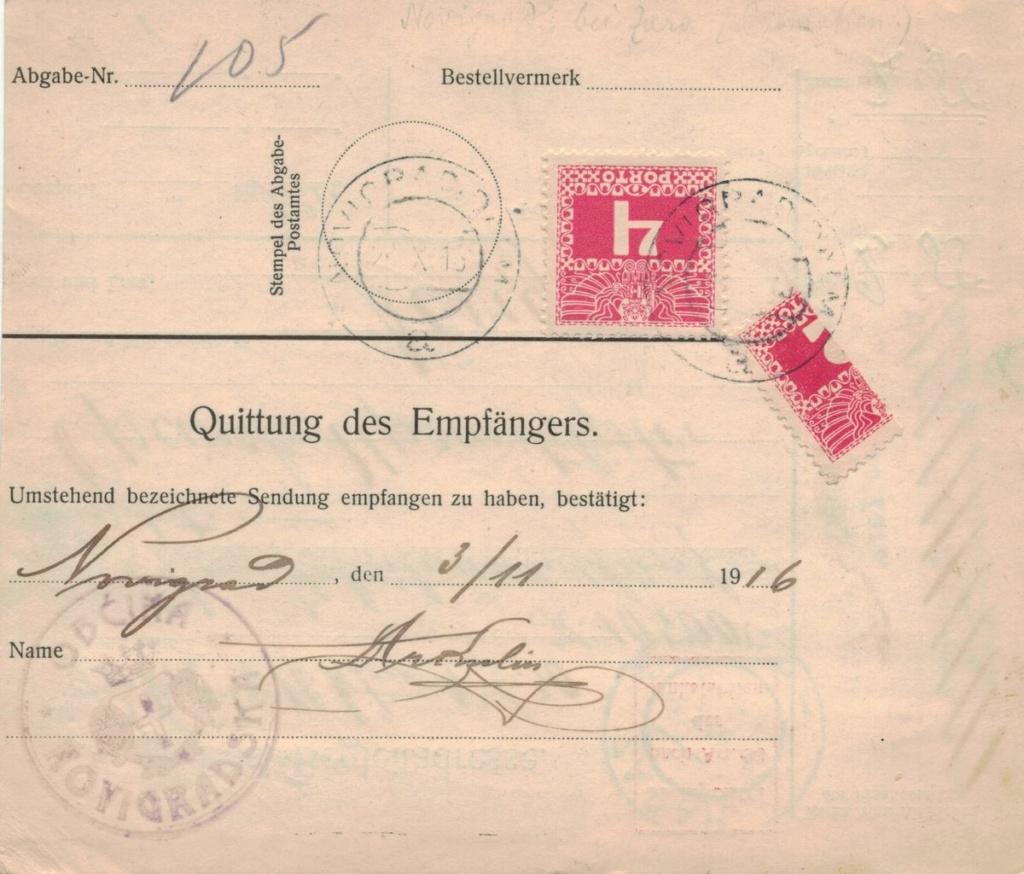 Die Freimarkenausgabe 1908 - Seite 8 Paketk11