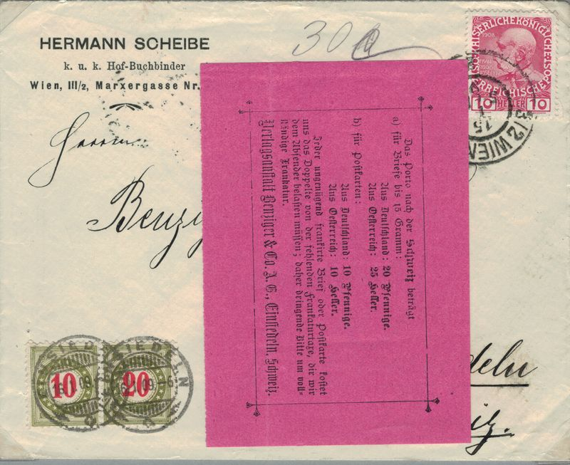 Die Freimarkenausgabe 1908 - Seite 2 Porto_13