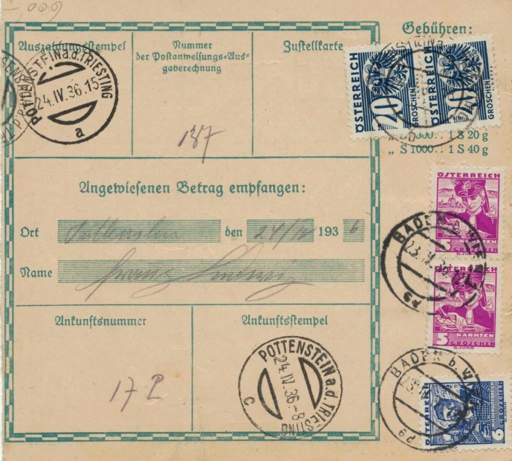 Postanweisung Postan11
