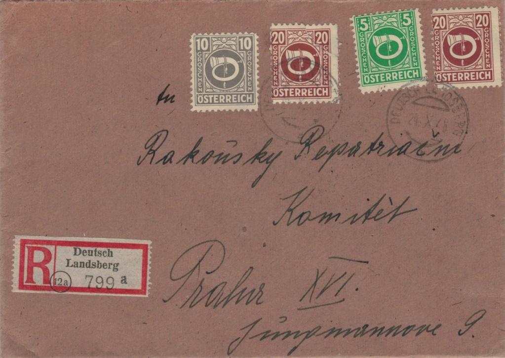 Posthornzeichnung  -  ANK 697-713  -  Belege - Seite 4 Postho10