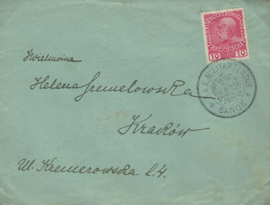 Die Freimarkenausgabe 1908 - Seite 10 Sanok10