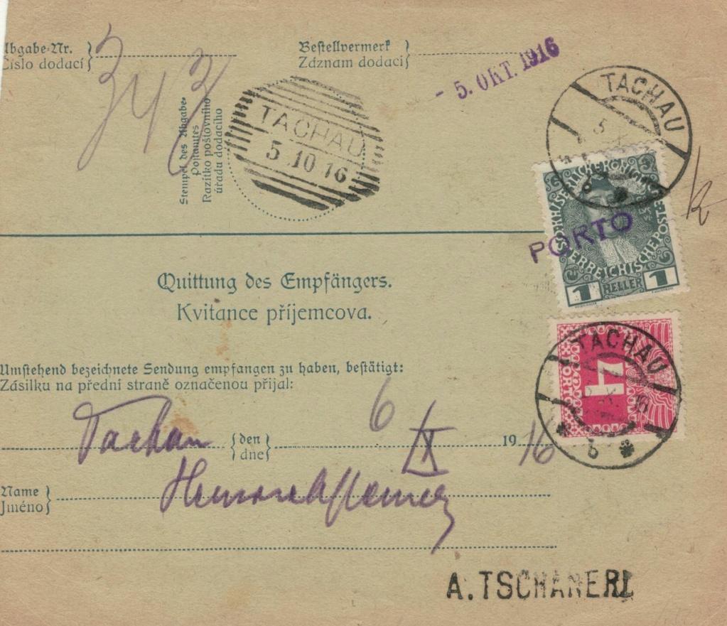 Die Freimarkenausgabe 1908 - Seite 8 Tachau10