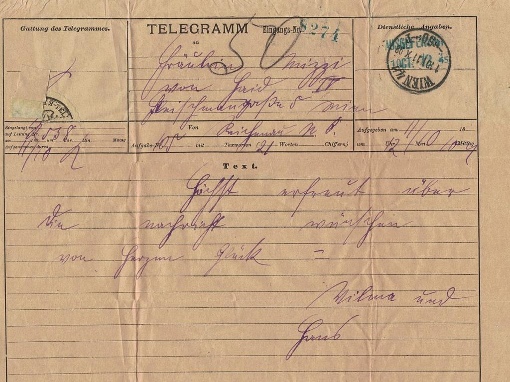 Telegramm per Rohrpost Telegr12