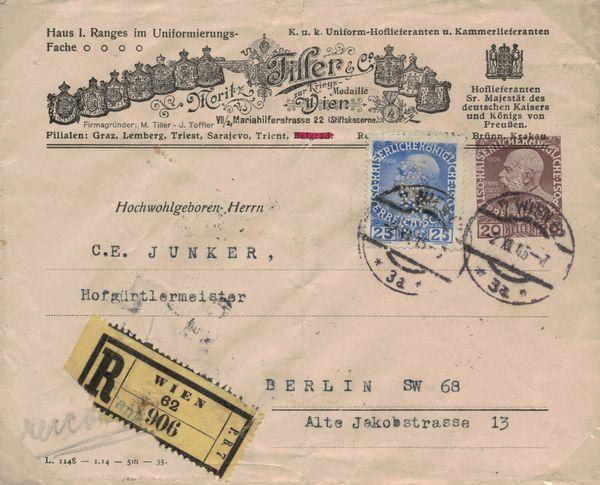 Private Briefumschläge Monarchie Tiller10