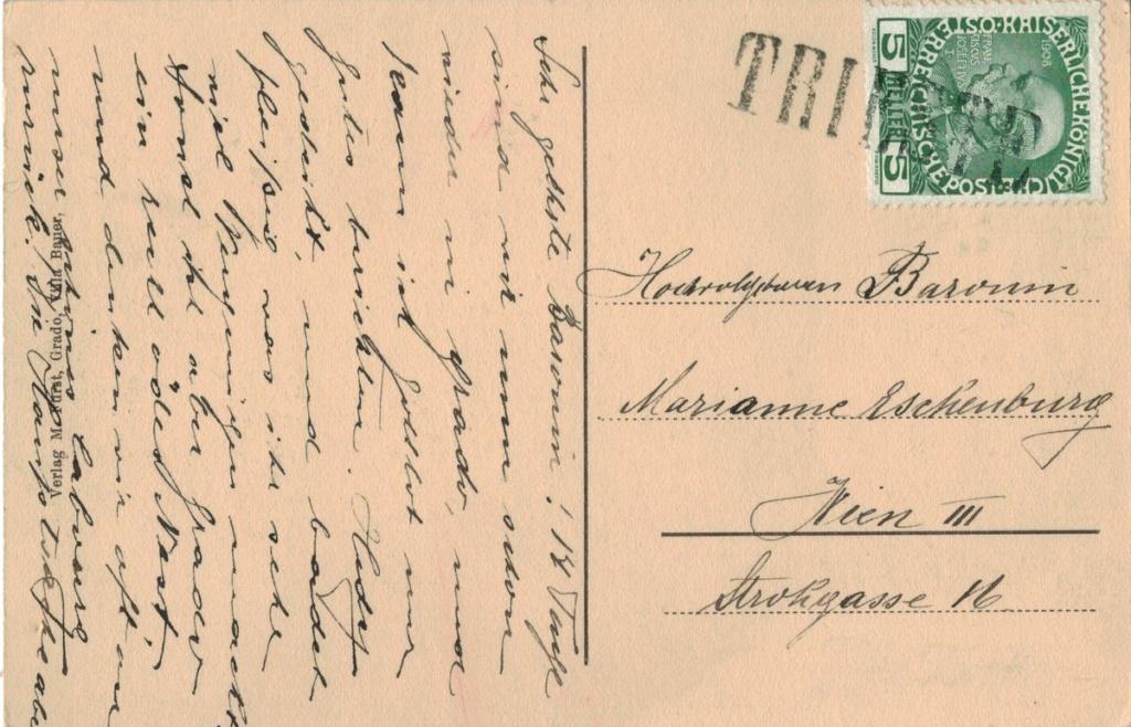 Die Freimarkenausgabe 1908 - Seite 7 Triest10
