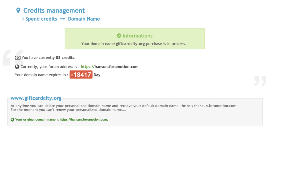 This domain has expired and is pending renewal or deletion. Screen13