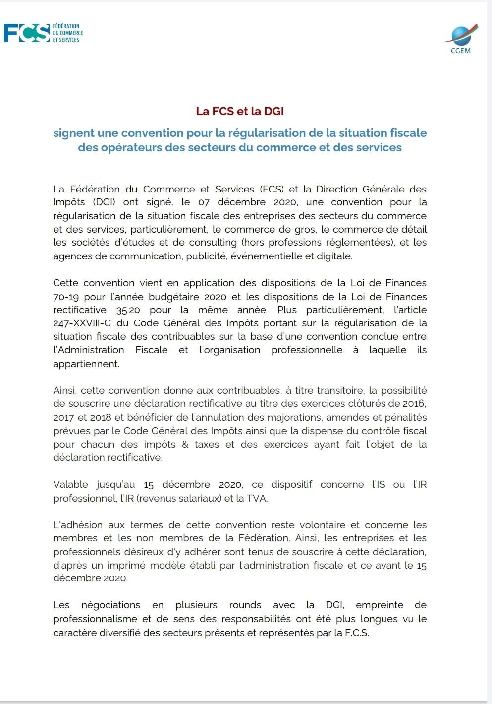 Amnistie Fiscale instaurée par la Loi de Finances 2020 008-dg12