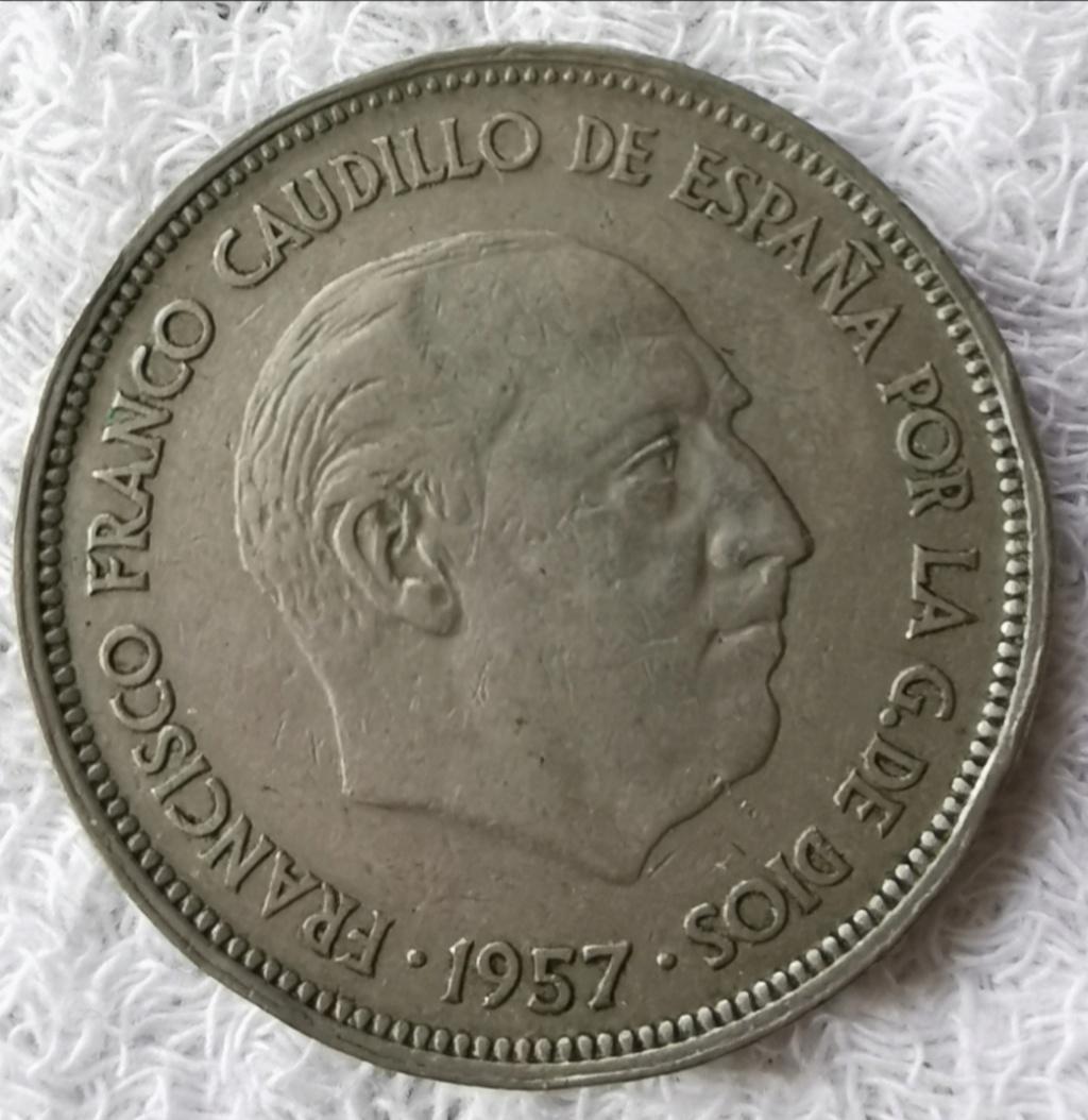 25 Pesetas 1957 Estado Español, serie BA Img_2074