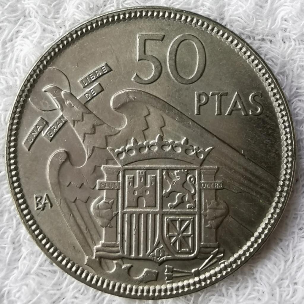 50 Pesetas 1957 Estado Español, serie BA Img_2076