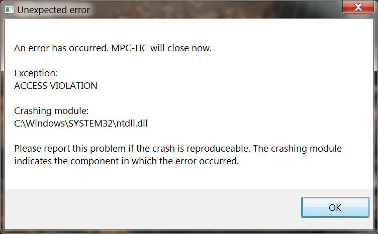 reproducible crash on share screen with discord Klite_11