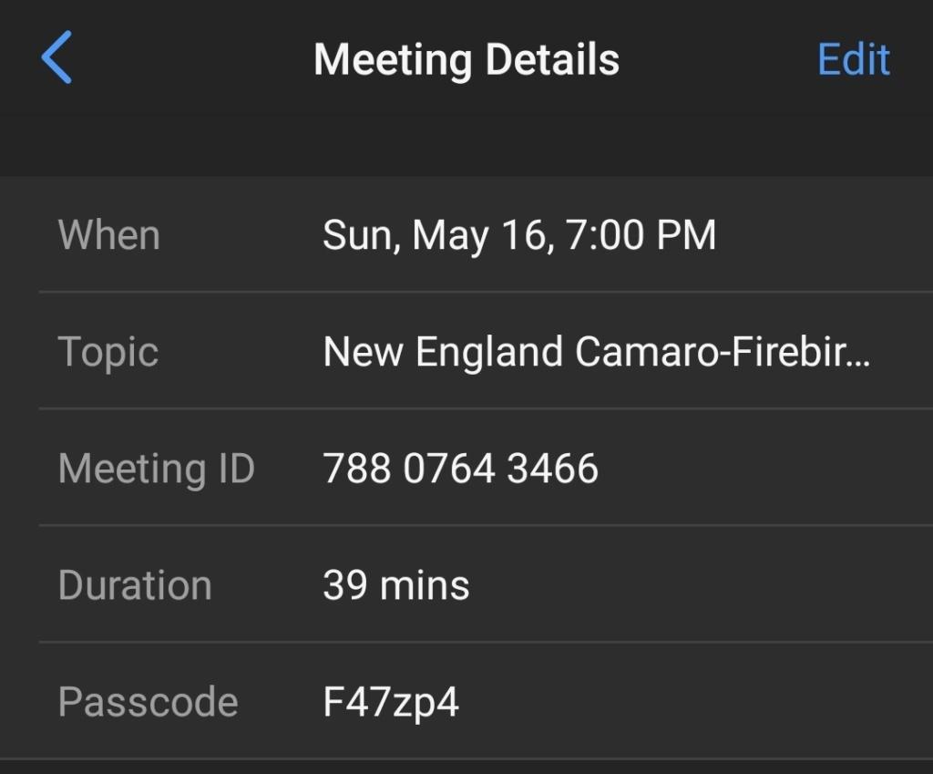 NECF ZOOM MEETING SUNDAY MAY 16, 2021 @ 7pm Screen15