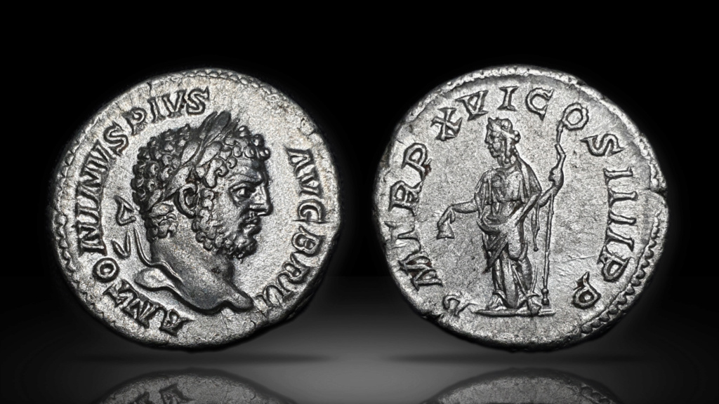 Denario de Caracalla. P M TR P XVI COS IIII P P. Libertas. Roma Caraca10