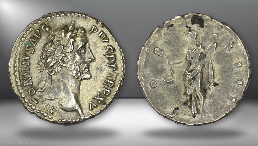Denario de Antonino Pío - COS IIII - Vesta. Roma Denant11
