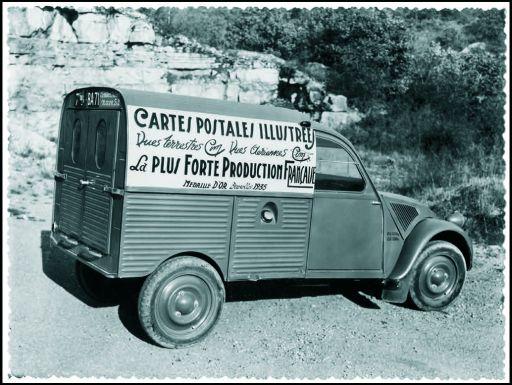 Photos et cartes postale 2cv camionnette  - Page 12 Cartes10