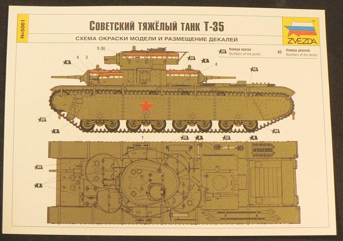 Ouverture de boite: T35 Zvezda 0-515110