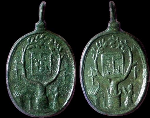 Medalla del Crucifijo y Notre-Dame de Banelle, s. XVII 01710-10