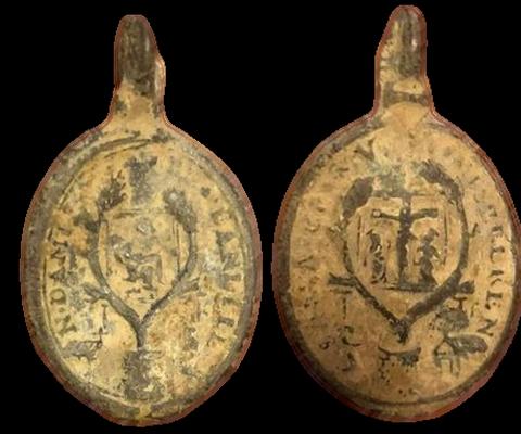 Medalla del Crucifijo y Notre-Dame de Banelle, s. XVII 11902610