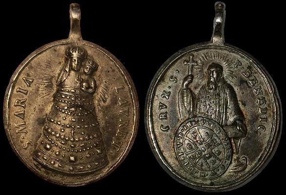 Virgen Loreto -San Benito .(marca  cabeza de moro ) 11985410