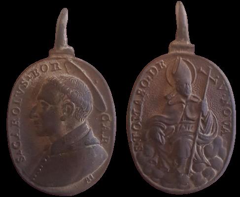 san Carlos Borromeo (Marca AH) / santo Tomas de Villanueva, s. XVII 12036910
