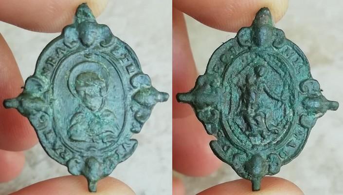 Santo Tomás de Aquino /Virgen del Rosario, s.  XVII (R.M. Pe Tomas de Aquino 4) 68803010