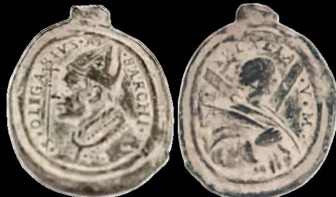 San Olegario obispo / Santa Eulalia de Barcelona , S. XVII 75478510