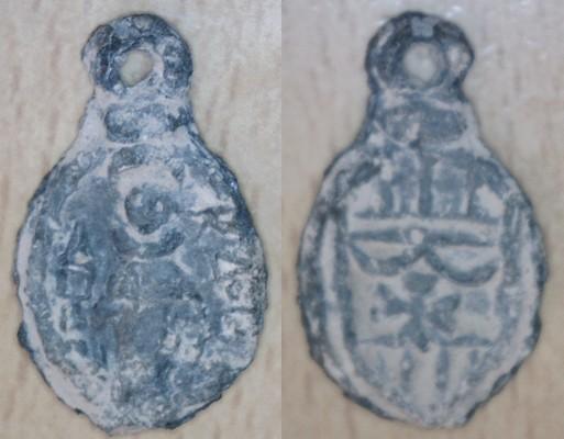 medaille du XVII saint Raymond Nonat-Ecu emblème ordre des mercèdaires Image910