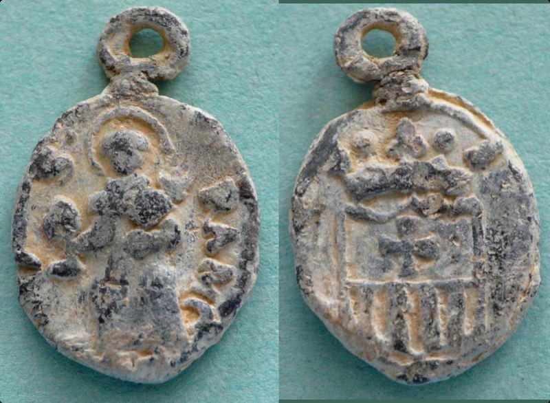 medaille du XVII saint Raymond Nonat-Ecu emblème ordre des mercèdaires Ramon_10