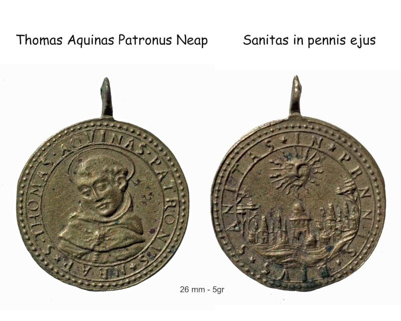 Santo Tomás de Aquino /Virgen del Rosario, s.  XVII (R.M. Pe Tomas de Aquino 4) Saint-10