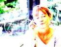 Autoportrait jaune à l'aquarium Apjaun10