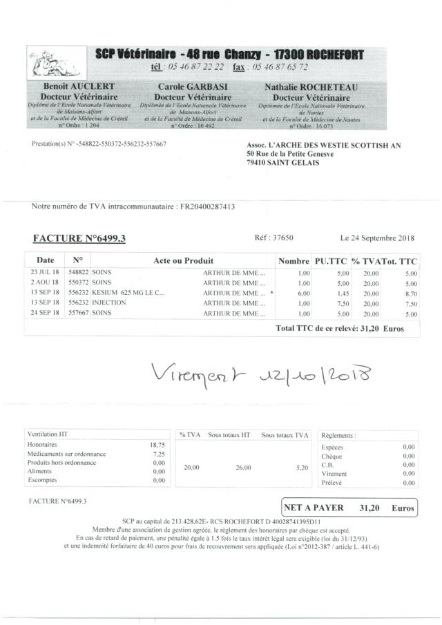 ARTHUR WESTIE NE EN 11/2005 DEPT 17 EN FA  - Page 3 Numzo162
