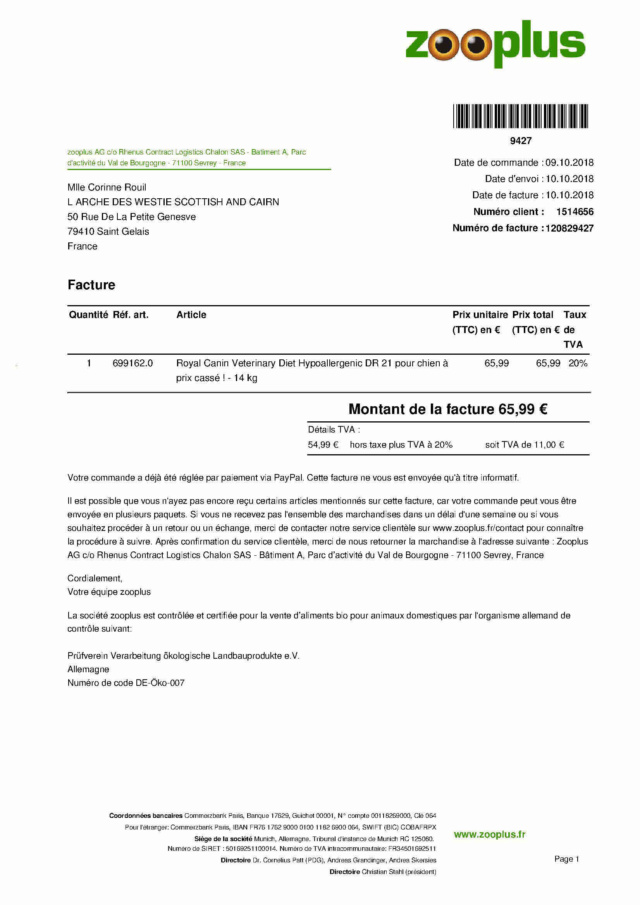 ARTHUR WESTIE NE EN 11/2005 DEPT 17 EN FA  - Page 3 Re_12010