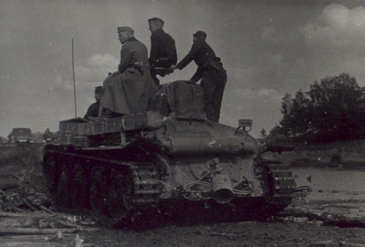 7e Pz Div en mai 1940; Rommel en balade dans les Ardennes Pz_38t11