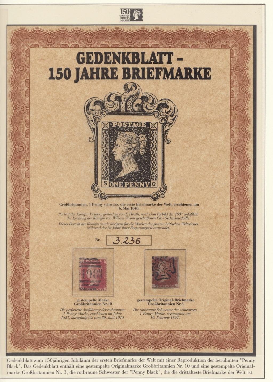 180 Jahre Briefmarke 150-210