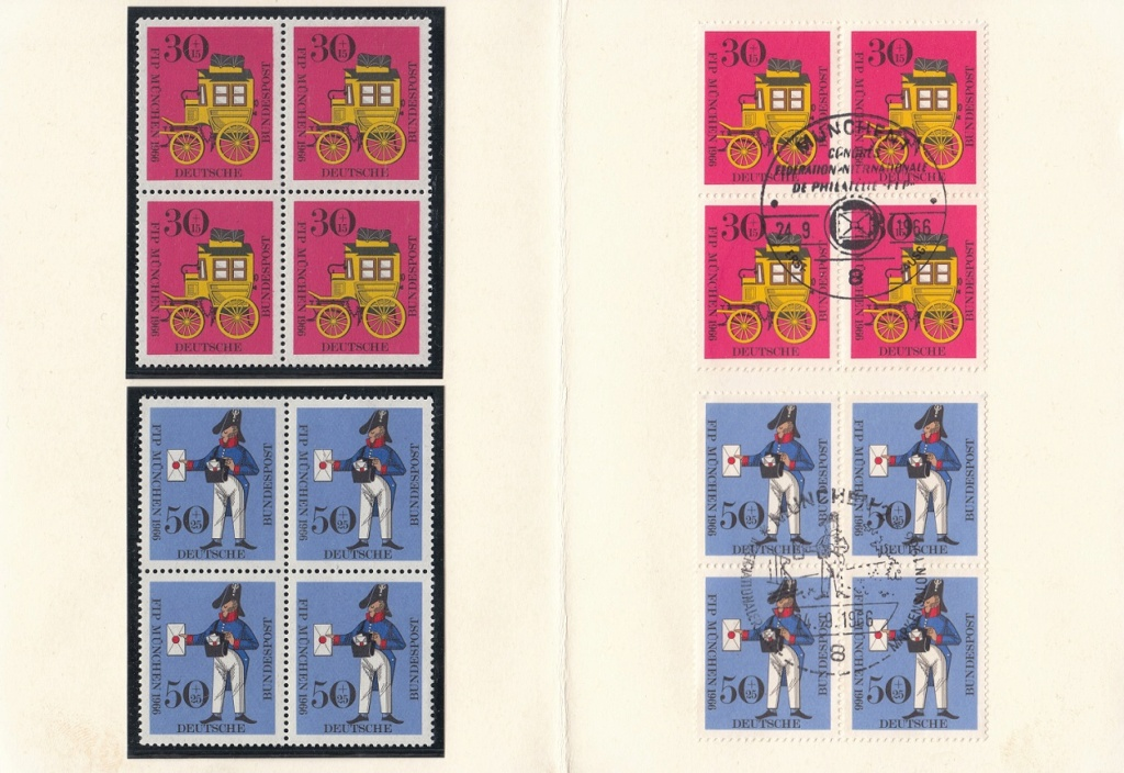 Kongress des FIP in München 1966 - Bayerische Postkutsche und Preußischer Briefträger 516110