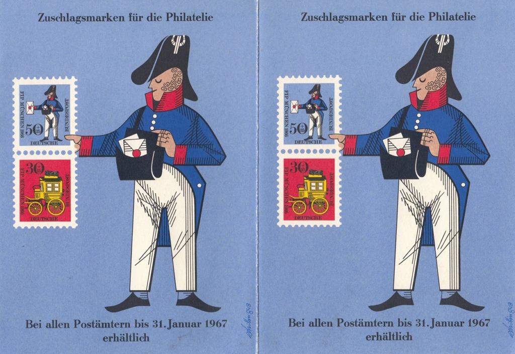 Kongress des FIP in München 1966 - Bayerische Postkutsche und Preußischer Briefträger 517110